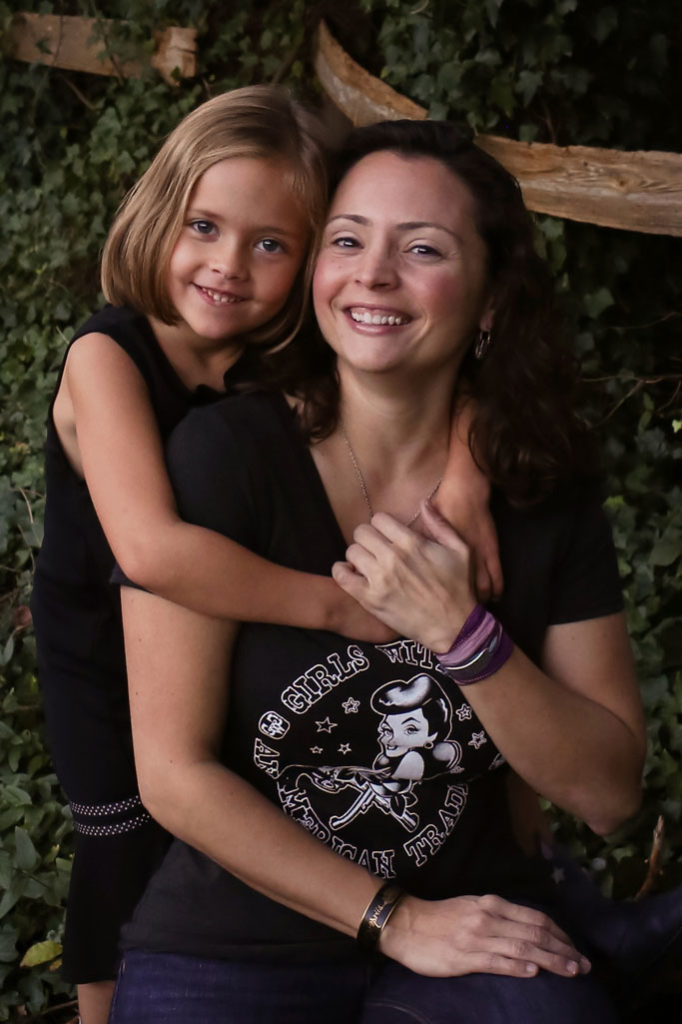 Angela with daughter